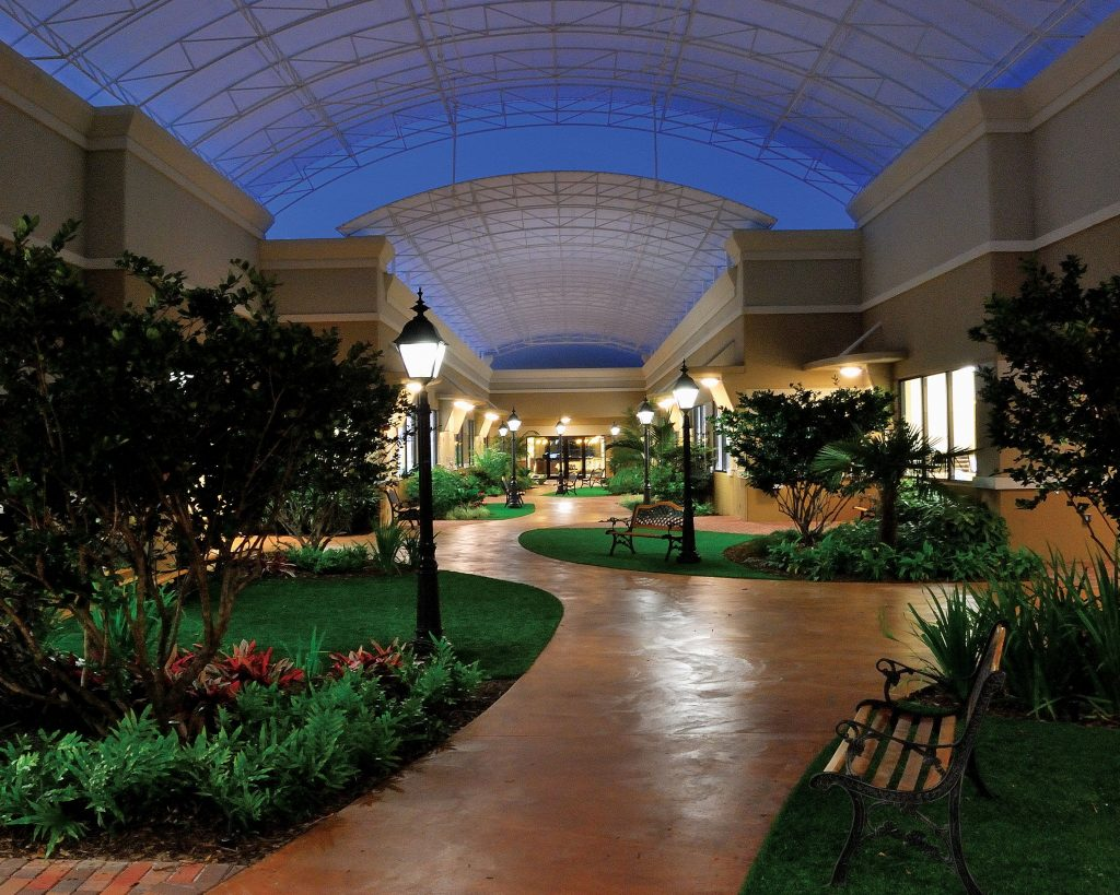 Indoor Breezeway at the Beck Family Campus of Temple Beth El, Beth El Early Learning Center