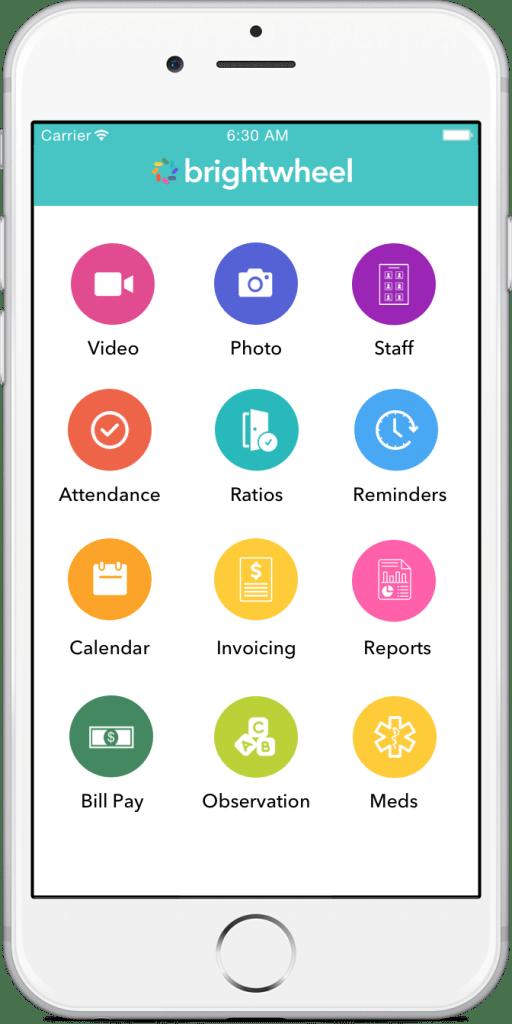 Brightwheel App Mockup, utilized at Beth El Learning Center in Boca Raton, FL